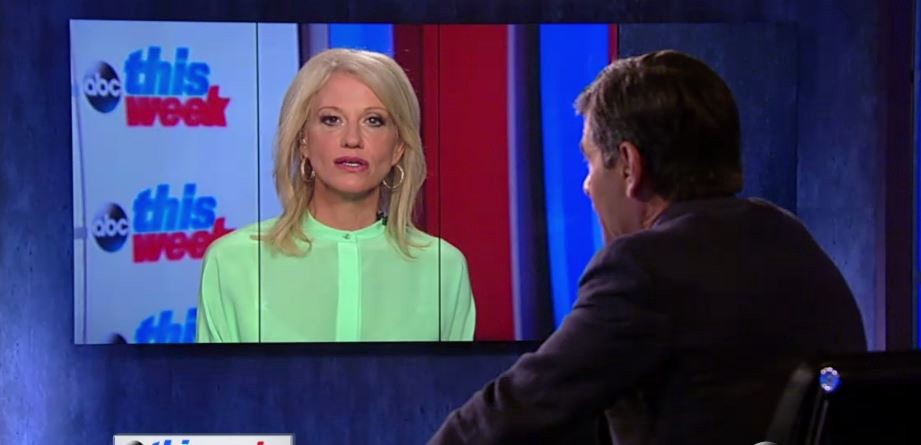 Counselor to the President Kellyanne Conway and ABC Anchor George Stephanopoulos