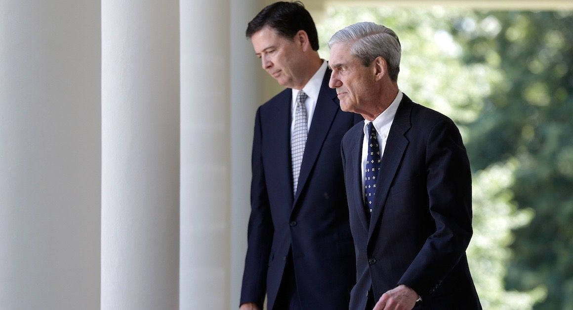 James Comey and Robert Mueller (Getty Images)