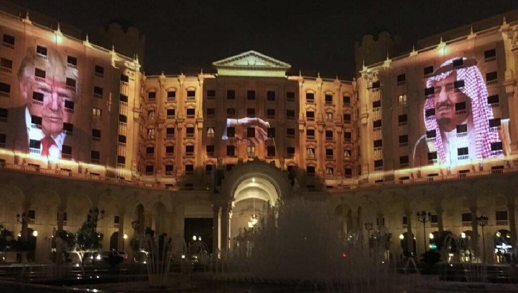 The Ritz-Carlton in Riyadh, May 19, 2017. King Salman's on theright.