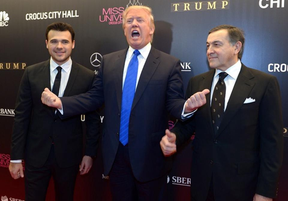 Donald Trump with Emin and Aras Agalarov (Splash News/Newscom)