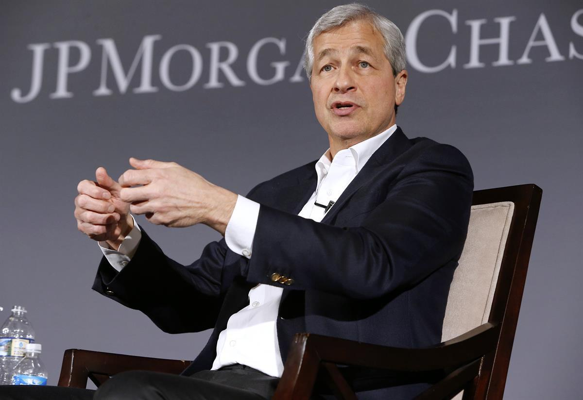 Jamie Dimon, Chairman and CEO of JPMorgan Chase, discusses his Annual Letter to Shareholders on Tuesday, April 4, 2017 at the Chamber of Commerce of the United States of America in Washington, DC. (Paul Morigi/AP Images for JPMorgan Chase)