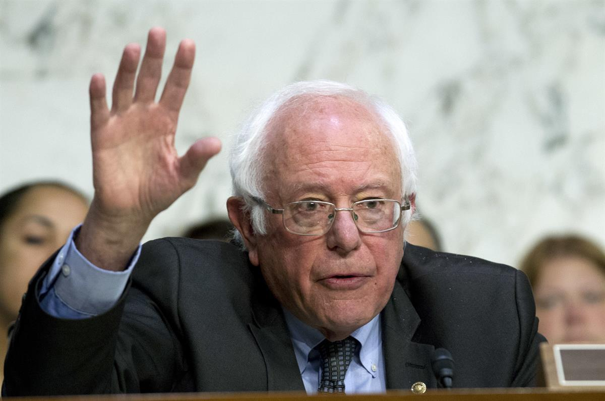 Sen. Bernie Sanders, D-Vt. speaks to governors at the Senate Health, Education, Labor, and Pensions Committee during a hearing to discuses ways to stabilize health insurance markets​, on Capitol Hill in Washington, Thursday, Sept. 7, 2017. ( AP Photo/Jose Luis Magana)