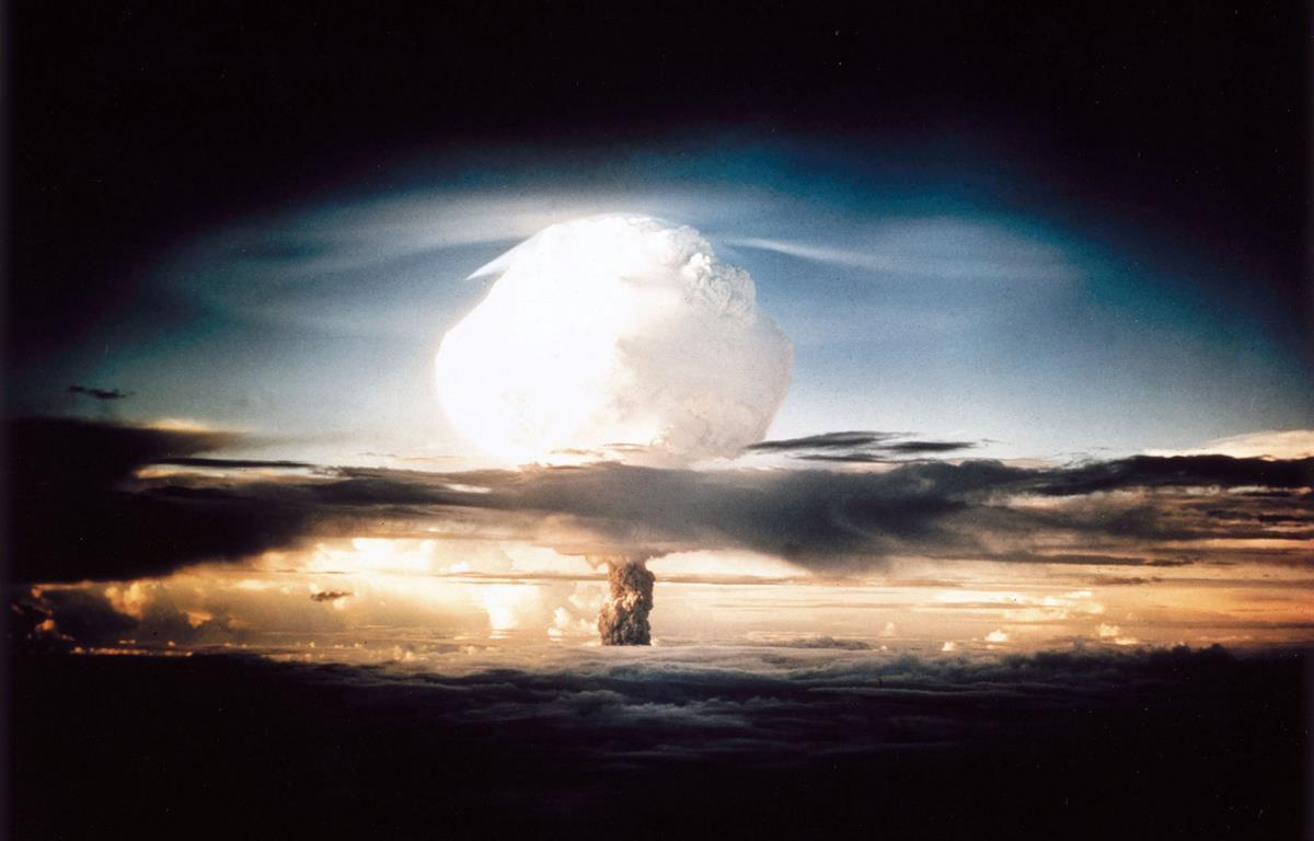 Detonation of Ivy Mike, the world's first thermonuclear weapon (National Nuclear Security Administration, 1952)