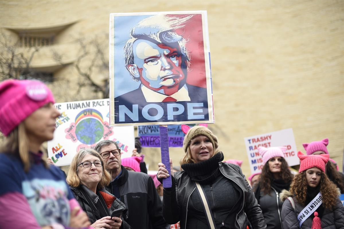 Participants attend the Women's March on Washington on Independence Ave — Saturday, Jan. 21, 2017 in Washington(AP Photo/Sait Serkan Gurbuz)