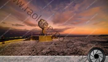 The globe at North Cape