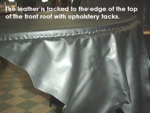 Close up of front tack edge