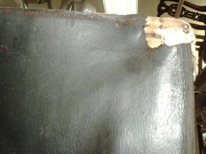 Torn Corner in leather