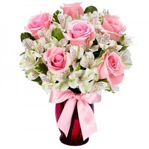 6 Ecuadorian Pink Roses