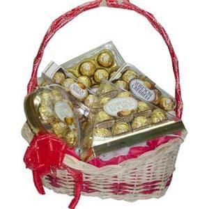 ferrero rocher chocolate basket