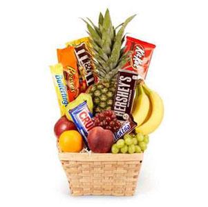 Fruits and Chocolates Gift Basket