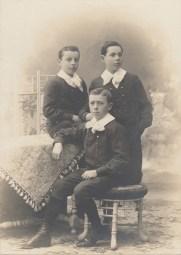 Evariste - Henri - Joseph Chancel - Tués tous les trois guerre 14-18 - 3 fils de Gustave Chancel - Collection Charles de Raphélis-Soissan
