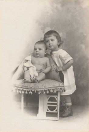Pierre et Maurice Franc - Février 1915 - Collection Charles de Raphélis-Soissan