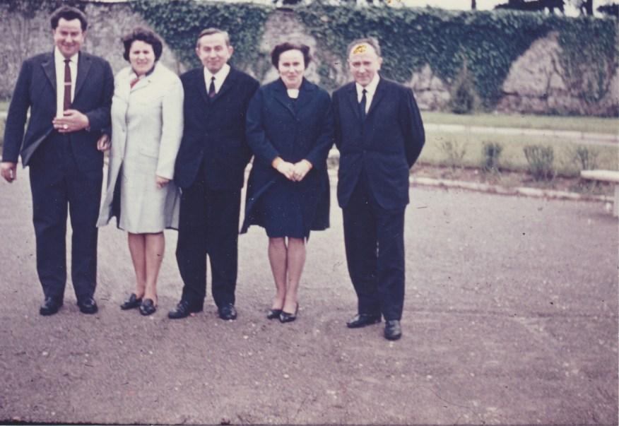 Bernard, Marie-Thérèse, Jean, Angèle et Joseph Lanoë - Collection Marie-Thérèse Lanoë