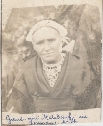 Marie-Joseph Jouniaux (Mme Julien Malaboeuf) - Collection Marie-Thérèse Lanoë