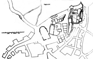 Plan du château de Toudon où Jean Bruno était majordome