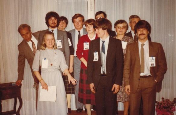 Cousinade Chancel du 21 mars 1981 : Louis, Jacqueline, Michel, Anne, Guy, Martine, Etienne, Marc, Mireille, Charles, Philippe de Raphélis-Soissan