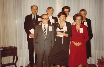Cousinade Chancel du 21 mars 1981 : 1er plan : Jean Sauton, Marie-Nicole Sauton, Christiane Sauton ; 2ème plan : ???
