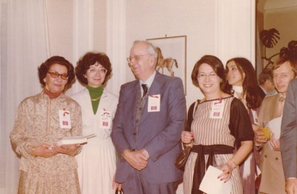 Cousinade Chancel du 21 mars 1981 : Yvonne Huet, Marie-José Huet, André Huet, Françoise Huet, Marie-Laurence de Valon, Eric de Valon