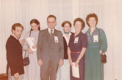 Cousinade Chancel du 21 mars 1981 : Benoît Cossé, Corinne Cossé, Raymond Cossé, Marguerite Cossé-Weymuller, France Cossé, Laurence Cossé