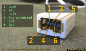 raph technologies  Wusbmote: Circuit accessoire