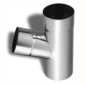 """Zambelli 3"""" Round Downspout Y-Connectors for Zinc Half-Round Gutter Systems"""