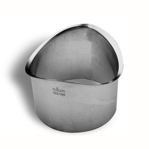 "Zambelli 4"" Zinc Mini Drop Outlets for Zinc Half Round Gutter Systems"