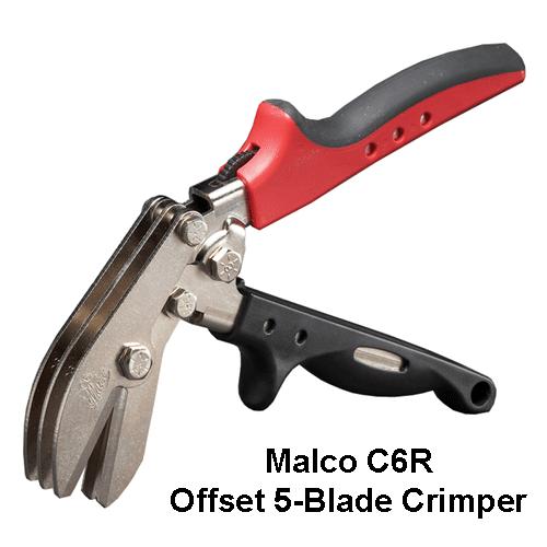 Malco C6R Offset 5-Blade Crimper