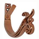 "6"" Double Curl Copper Gutter Hangers for Half Round Gutter"