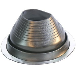 No 6 EPDM Universal Round Base Pipe Boot