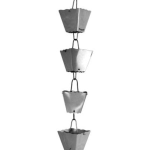 Stainless Steel Rain Chain Fluted Cup