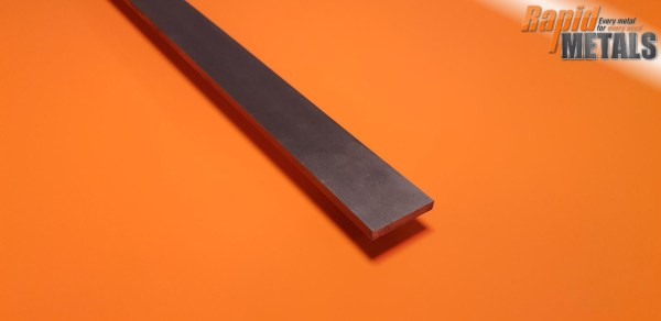 Bright Mild Steel (080a15) Flat 25.4mm x 19.1mm