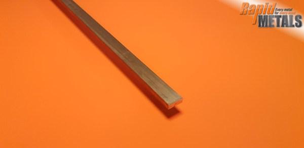 Brass Flat 25.4mm x 12.7mm