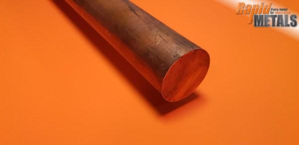 """Copper (C101) 2.1/2"""" Round"""