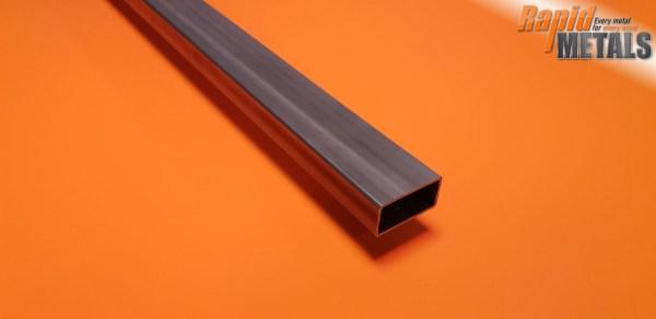 """Mild Steel ERW Box 2"""" x 1"""" x 1.6mm Wall"""