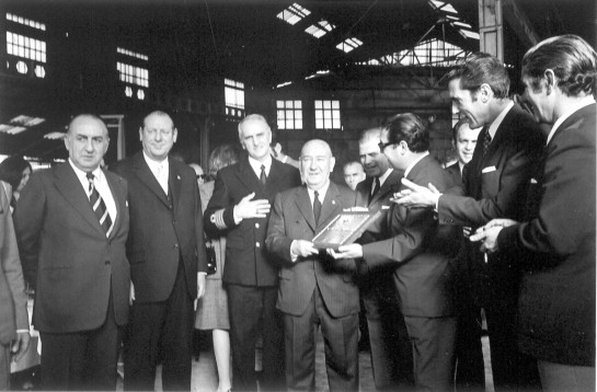1972-Homenaje de los Sindicatos a D.José Santodomingo (Foto Magar)