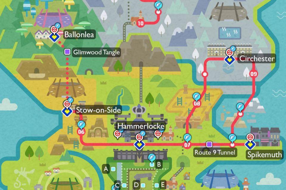 Pokémon Shield Galar Region