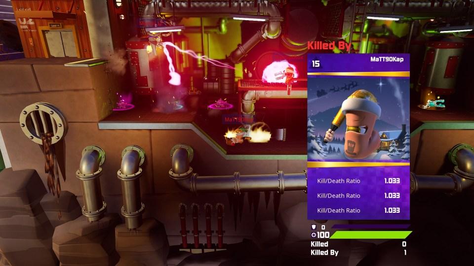 Worms Rumble Kill Screen