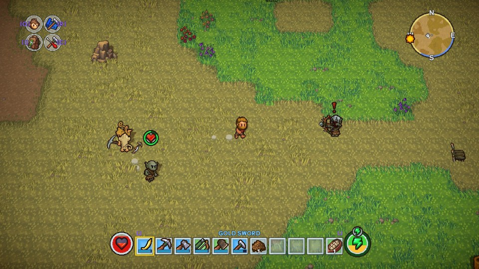 The character charges an Orc who's aiming an arrow at them.