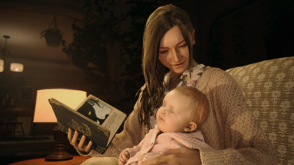 Mia and baby Rose in Resident Evil Village