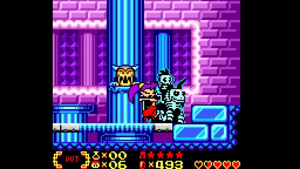 Shantae hair whipping enemies.