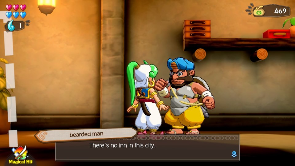"""A bearded man saying (TEXT) : """"There's no inn in this city"""""""