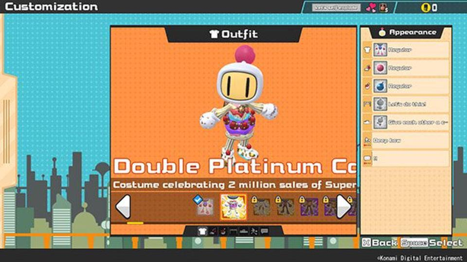 Showing Super Bomberman R Online Customisation