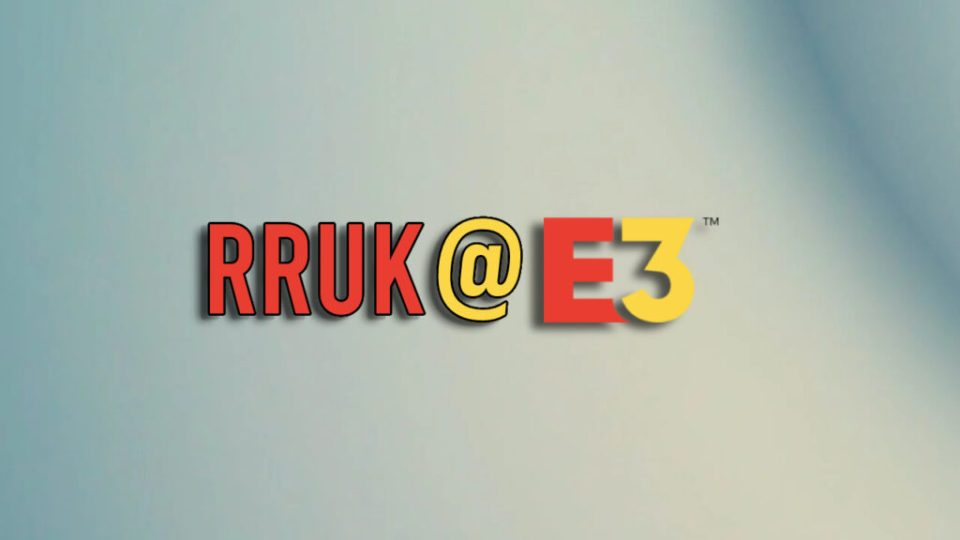 RRUK@E3 in red and yellow bold lettering, for part of our Capcom Showcase coverage.