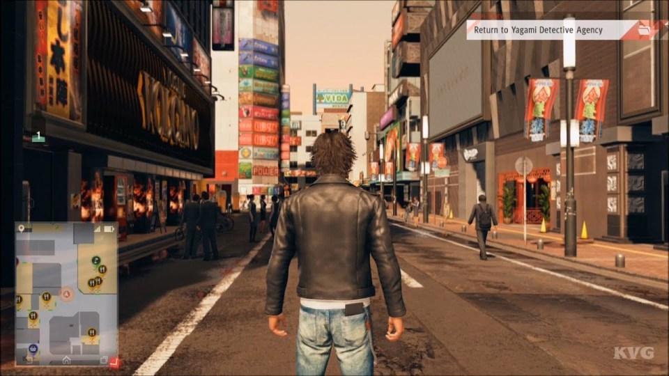 main character looking outward at the city