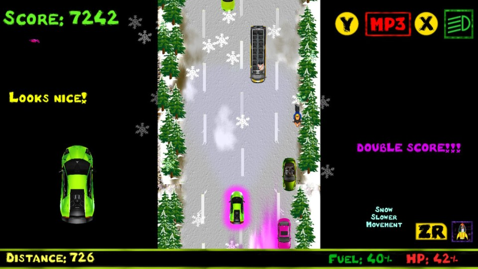 Frodoric the Driver using a double score powerup.