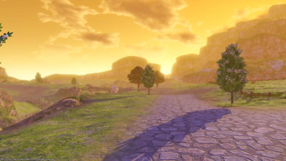 Sunset vistas in Atelier Mysterious Trilogy Deluxe Pack