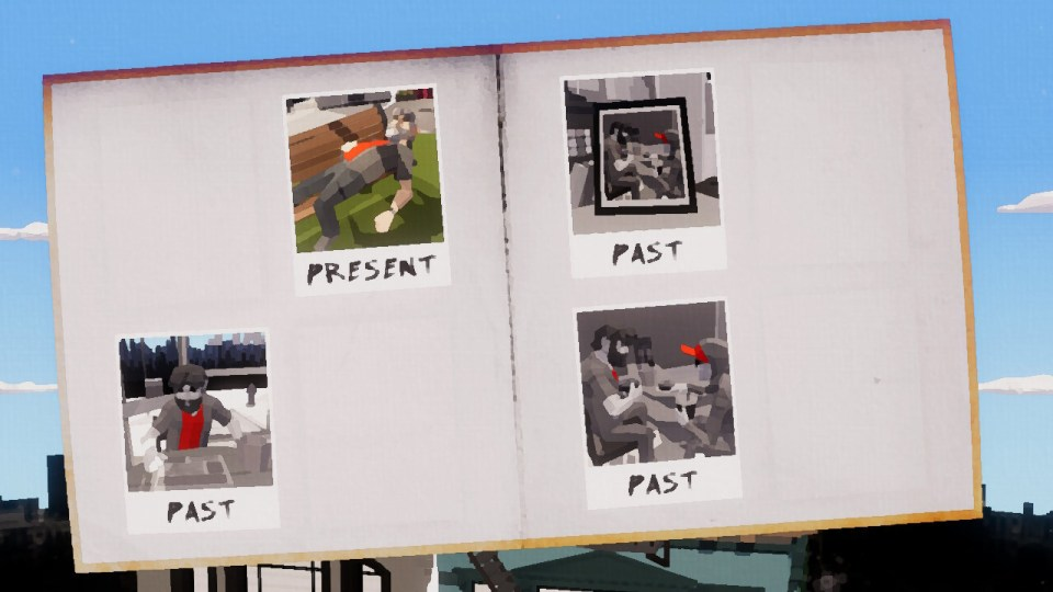 A scrapbook showing pictures from the past and present