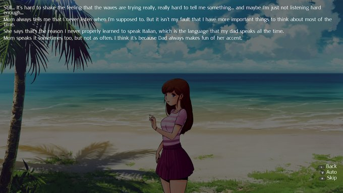 A typical visual novel style text.