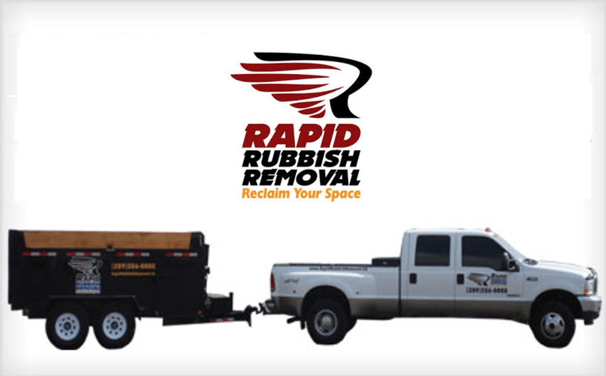 Rapid Rubbish Removal Truck and logo