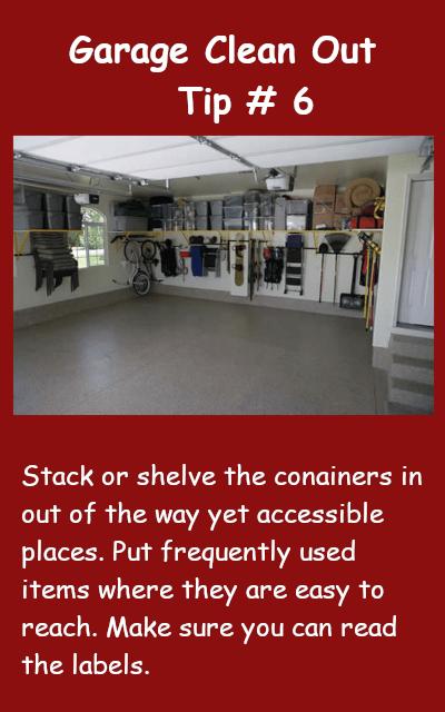 Garage Clean Out Tip #6